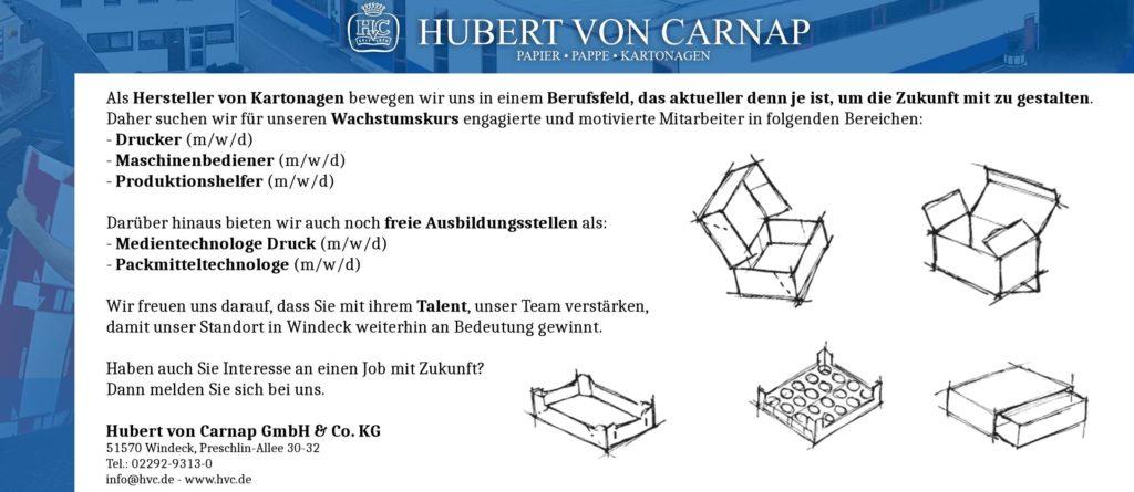 HvC-Job-Anzeigen Windeck Hamm